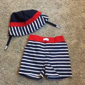 Other - Swim shorts w/matching hat